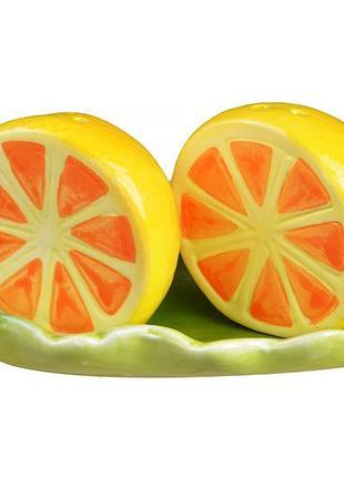 "Набор для специй ""лимон"" 2 предмета на подставке"
