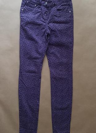 Denim стильні фіолетові джинси леопардовий принт, xs-s