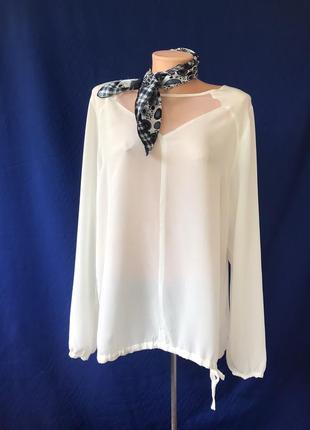 Nile блузка кофта рубашка белоснежныая блузка шелковая блузка. идеал!
