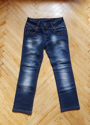 Женские джинсы с стразами