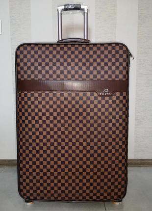 Распродажа! чемодан большой в стиле louis vuitton экокожа