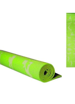 Йогамат. мат коврик для йоги. гимнастические коврики 6мм. фитнес.  чехол в подарок