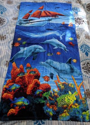 Махровое, пояжное полотенце 140х70, cotton 100 %