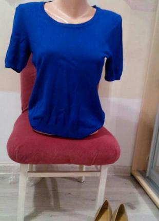 Женская кофта. вязаный топ. джемпер. вызанная футболка.