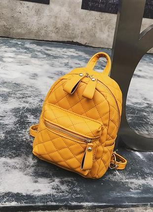 Рюкзак женский стильный мини маленький стеганый модный топ качество