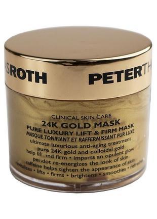 Peter thomas roth 24k gold укрепляющая маска для лица с лифтинговым эффектом, 50 мл
