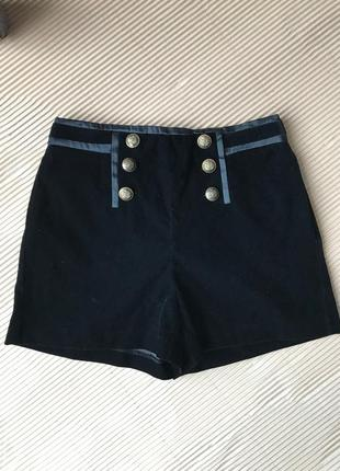 Бархатные шорты, размер s