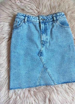 Афигезная джинсовая юбка мини