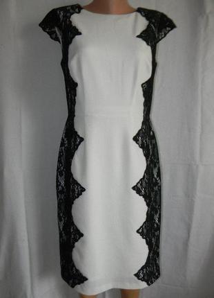 Платье с кружевом adrianna papell
