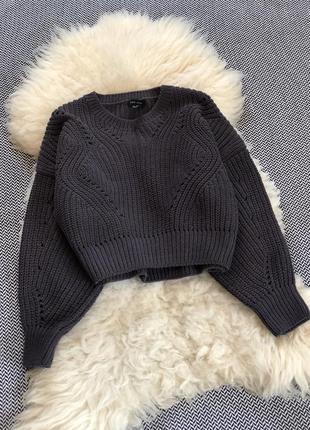 Оверсайз свитер кофта велюр велюровая вязанная синель