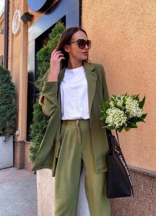 Костюм удлиненный пиджак и брюки