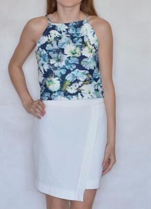 Новая асимметричная 🌟🌟 белаю юбка нова асимметрична спідниця next