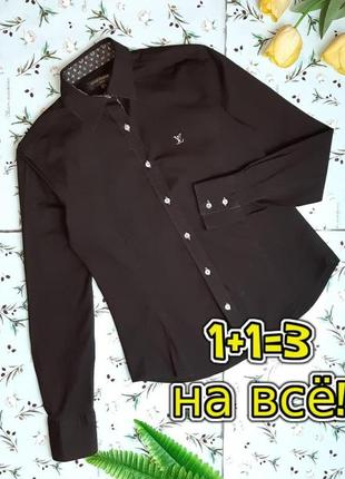 🎁1+1=3 крутая коричневая приталенная блуза блузка рубашка louis vuitton, размер 44 - 46