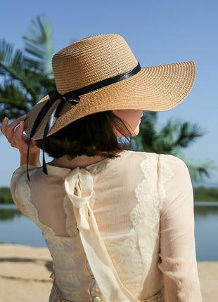 Женская шляпа с широкими полями 1338