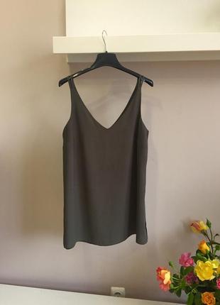 Легкая блуза-хаки