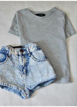 Светлые джинсовые шорты 🌟короткие missgusded світлі джинсові шорти