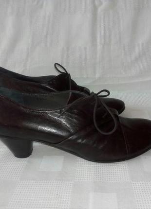 Gidigio италия кожаные туфли р. 39 ст. 25,8 см