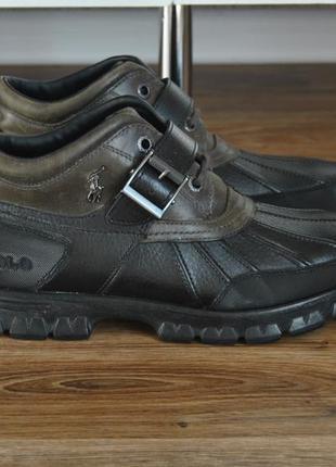 Кожаные трекинговые ботинки ralph lauren / шкіряні черевики