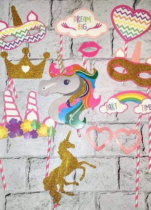 Фотобутафория единорог unicorn, 12 предметов