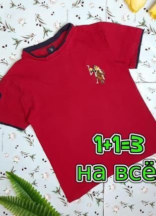 🌿1+1=3 брендовая красная женская футболка хлопок ralph lauren, размер 44 - 46