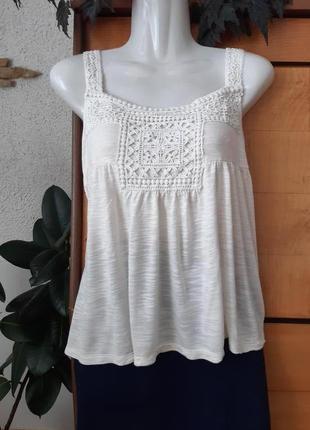 Топ-майка-футболка с кружевом в стиле бохо, коллекция индиго, индия