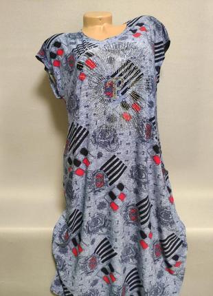 Платье женское летнее больших размеров