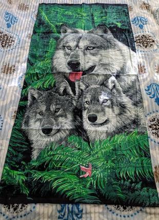 Махровое, пляжное полотенце 140х70