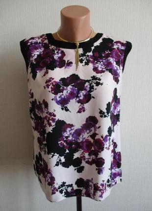 Натуральная вискозная блузка в цветочный принт dorothy perkins