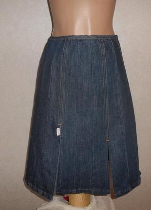 Paul smith джинсовая юбка с разрезами, luxury бренд, пр-во италия, ит.46, наш 48