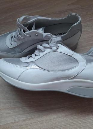 Трендовые серебряные кожа кроссовки от pediconfort англия