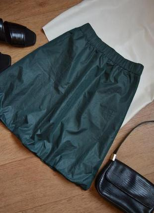 Magenta юбка оригинал зеленая летняя с карманами свободная прямая стильная оригинал