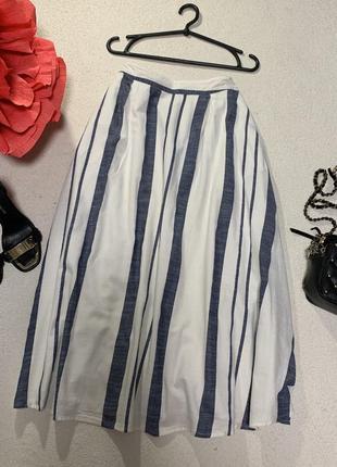 Стильная котоновая юбка,размер s,подойдет на размер m