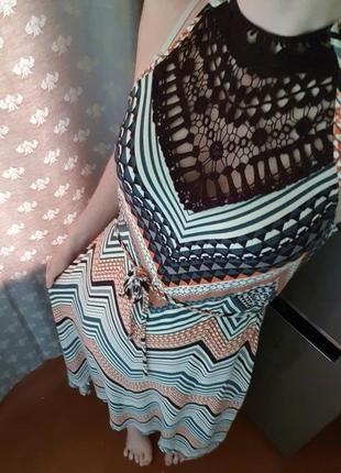 Шикарное длинное платье oasis