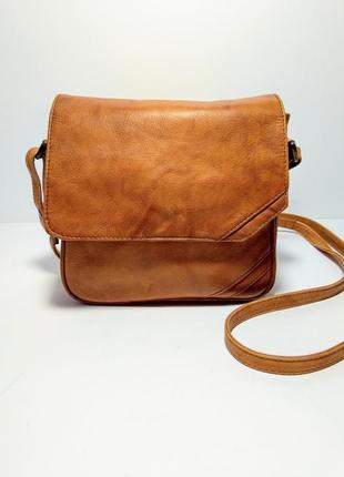 Кожаная сумка кроссбоди клатч натуральная кожа