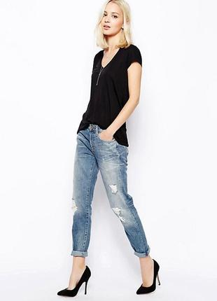 Крутые джинсы zara мом бойфренды  размер xs