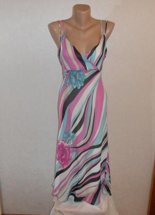 Marks&spencer красивый вискозный сарафан платье, длина миди, р.12, наш 46-й