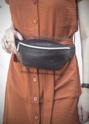 Новая стильная качественная сумка на пояс бананка кожа pu tommy / через плече / клатч