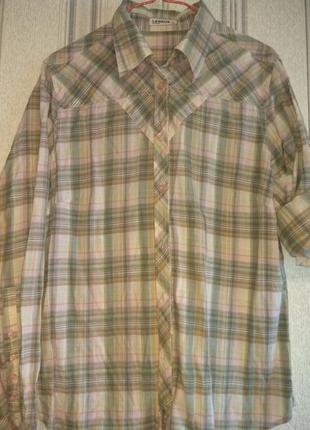 Стильная рубаха в клетку lerros