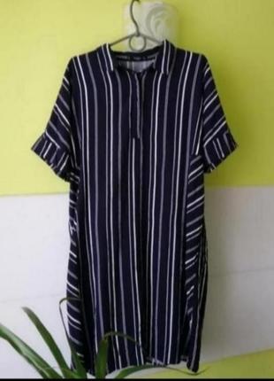Летнее платье рубашка mango