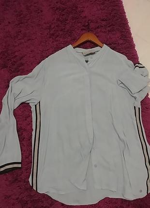 Коттоновая рубашка с лампасами