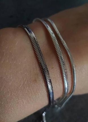 Срібний чоловічий браслет 925 (серебро, мужской браслет ) проба.