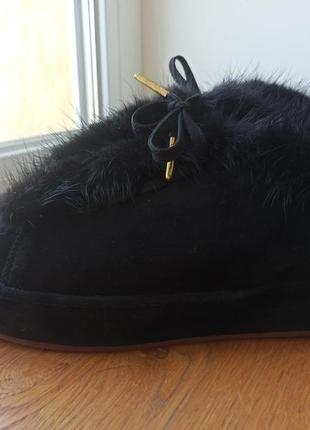 Зимние натуральные туфли