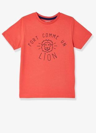 Новая качественная футболка со львом. лев. vertbaudet