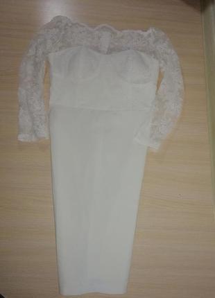 Свадебное, безумно красивое кружевное платье