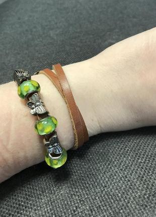 Кожаный браслет2 фото