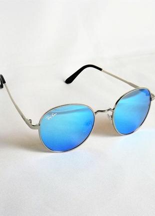 Очки солнцезащитные ray ban 3448 зеркальные хром круглые тишейды