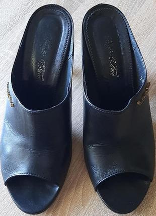Мюли басаножки  на каблуке