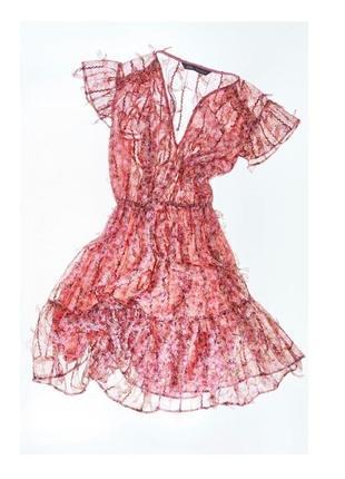 Zara легкое летнее платье лимитированнач коллекция