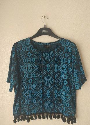 Блуза футболка с принтом
