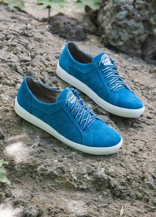 Замшевые лилово-синие кеды 39 размера